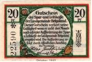 20 Pfennig (Spar- und Leihkasse) – obverse