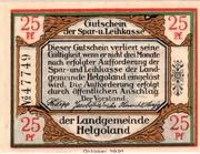 25 Pfennig (Spar- und Leihkasse) – obverse
