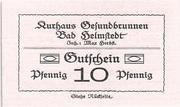 10 Pfennig (Kurhaus Gesundbrunnen) – obverse