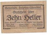 10 Heller (Helpfau-Uttendorf) -  reverse