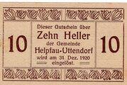 10 Heller (Helpfau-Uttendorf) -  obverse