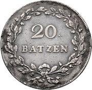 20 Batzen (soldier looking left) -  reverse