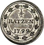 1⁄2 Batzen – reverse