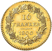 16 Franken – reverse