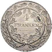 4 Franken (loose wreath) – reverse