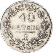 40 Batzen (head facing right) – reverse