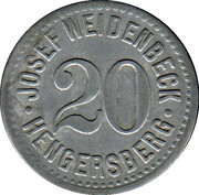 20 Pfennig - Hengersberg (Josef Weidenbeck) -  obverse