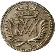 1 Heller - Moritz Wilhelm von Sachsen-Zeitz – obverse