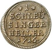 1 Heller - Moritz Wilhelm von Sachsen-Zeitz – reverse