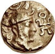 Dinar - Unknown hunnic chieftain (Sassanian style, Peroz I imitation, Sind mint) – obverse
