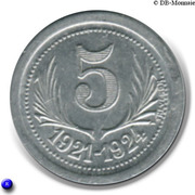5 Centimes – reverse