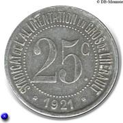25 Centimes – obverse