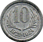 10 Centimes – reverse