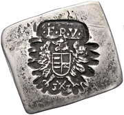½ Tallér Klippe - Nagyszeben I. Ferdinánd's Occupation – obverse