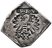 ¼ Tallér Klippe - Nagyszeben I. Ferdinánd's Occupation – obverse
