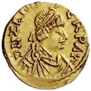 1 Tremissis - Odovacar / In the name of Zeno, 476-491 (With bow) – obverse