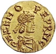 1 Tremissis - Odovacar / In the name of Zeno, 476-491 (With two Xs; without ring) – obverse