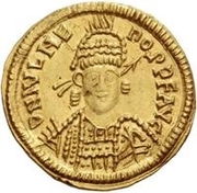 1 Solidus - Odovacar / In the name of Julius Nepos, 477-480 (Mediolanum/Milan) – obverse