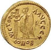 1 Solidus - Odovacar / In the name of Julius Nepos, 477-480 (Mediolanum/Milan) – reverse