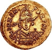 1 Solidus - Odovacar / In the name of Zeno, 476-491 (With star to the left) – obverse