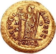 1 Solidus - Odovacar / In the name of Zeno, 476-491 (With star to the left) – reverse