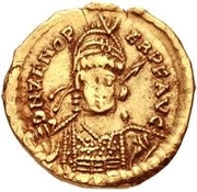 1 Solidus - Odovacar / In the name of Zeno, 476-491 (With star to the right) – obverse