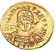 1 Solidus - Odovacar / In the name of Zeno, 476-491 (Without star) – obverse