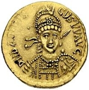 1 Solidus - Odovacar / In the name of Basiliscus, 475-476 (Uncertain mint) -  obverse