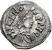 ½ Siliqua - Odovacar / In the name of Zeno, 476-491 (Mediolanum/Milan; both wings up) -  obverse