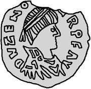 ½ Siliqua - Odovacar / In the name of Zeno, 476-491 (Mediolanum/Milan; one wing up) – obverse