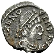½ Siliqua - Odovacar / In the name of Zeno, 476-491 (Thick prow) – obverse