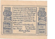 10 Heller (Herzogsdorf) – obverse