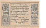 20 Heller (Herzogsdorf) – obverse