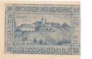 50 Heller (Herzogsdorf) – reverse