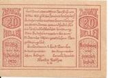 20 Heller (Herzogsdorf) – reverse
