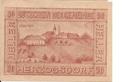 50 Heller (Herzogsdorf) -  obverse