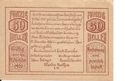 50 Heller (Herzogsdorf) -  reverse