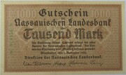 1000 Mark (Nassauische Landesbank) – obverse