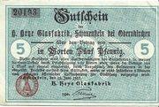 5 Pfennig (Obernkirchen; H. Heye Glasfabrik Schauenstein) – obverse