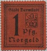 1 Pfennig (Darmstadt) – obverse