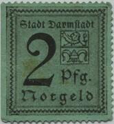2 Pfennig (Darmstadt) – obverse