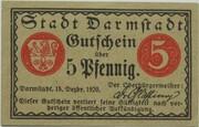 5 Pfennig (Darmstadt) – obverse