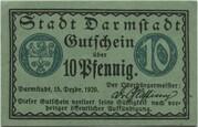10 Pfennig (Darmstadt) – obverse