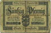 50 Pfennig (Darmstadt) – obverse