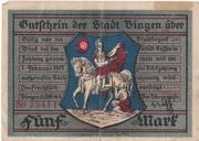 5 Mark (Bingen am Rhein) – obverse