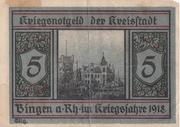5 Mark (Bingen am Rhein) – reverse