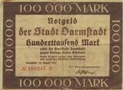 100,000 Mark (Darmstadt) – obverse