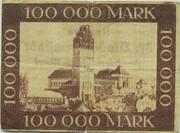 100,000 Mark (Darmstadt) – reverse