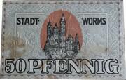 50 Pfennig (Worms) – obverse