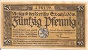 50 Pfennig (Kreis Erbach im Odenwald) – obverse